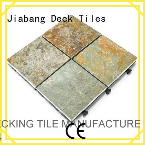 non stone slip waterproofing outdoor stone deck tiles JIABANG Brand