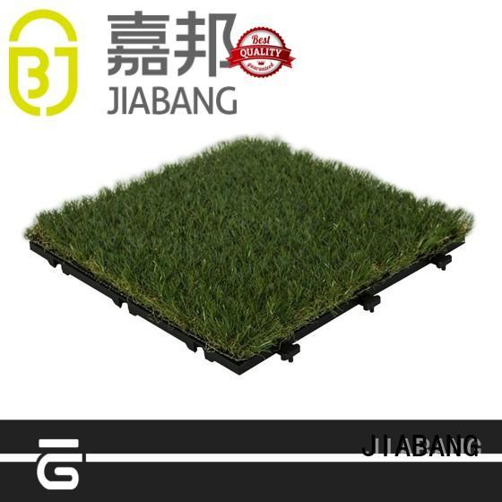JIABANG high-quality artificial grass tiles balcony construction