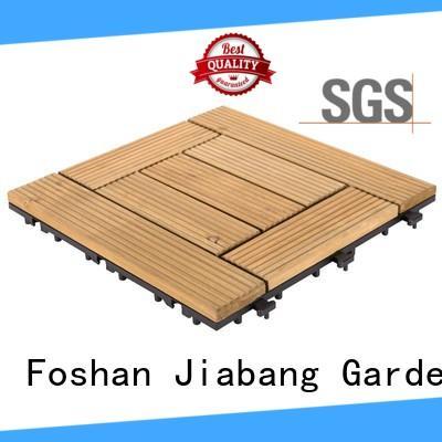 natural hardwood deck tiles long size for garden JIABANG