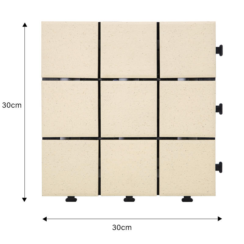 0.8cm ceramic patio deck tiles ST-BG-1
