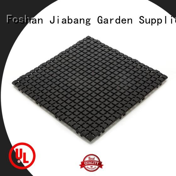 Non slip bathroom floor plastic mat JBPL3030N black