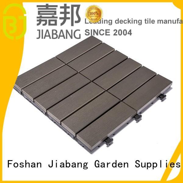 plastic floor lightweight JIABANG Brand pvc deck tiles factory