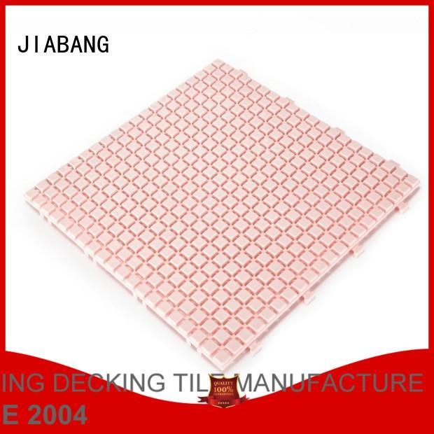 Hot non plastic floor tiles outdoor plastic JIABANG Brand