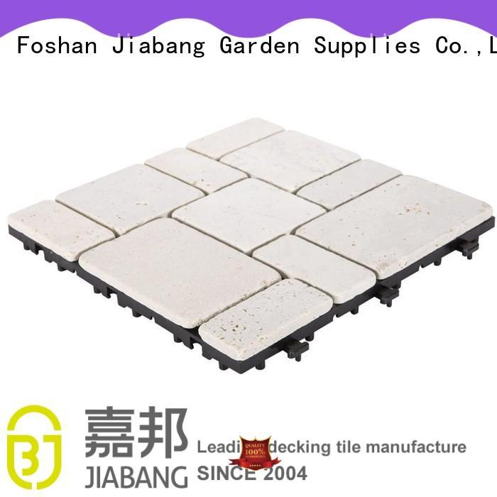 JIABANG outdoor silver travertine tile wholesale for garden decoration