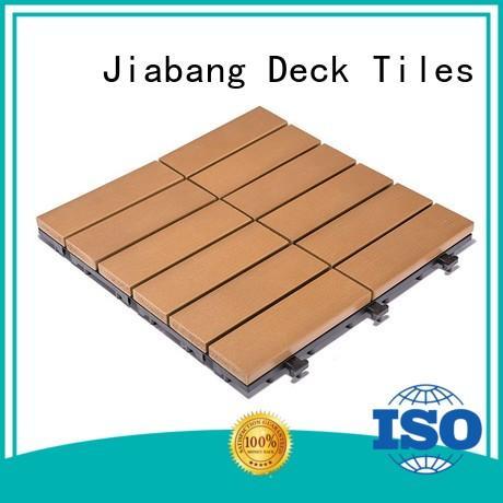 hot-sale plastic interlocking deck tiles anti-siding gazebo decoration JIABANG