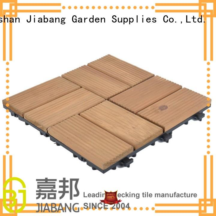 JIABANG outdoor wooden decking squares wooddeck for garden