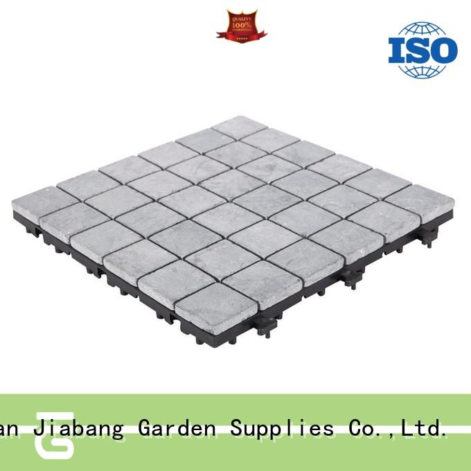 JIABANG interlocking gray travertine tile high-quality for garden decoration