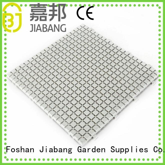 plastic cream grey plastic floor tiles outdoor JIABANG manufacture