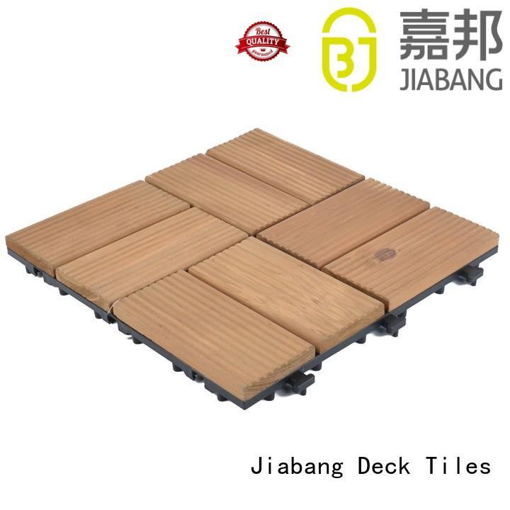 JIABANG interlocking wood deck panels flooring wooden floor