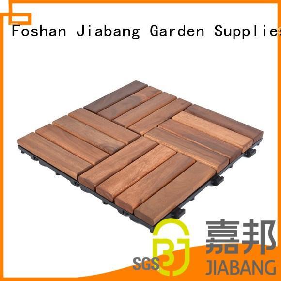 acacia interlocking outdoor acacia deck tile wood JIABANG