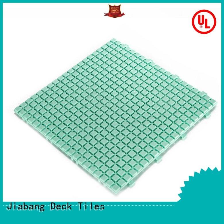 bathroom floor outdoor plastic tiles non-slip kitchen flooring JIABANG