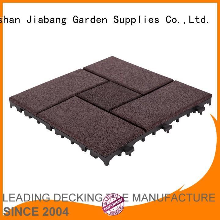 JIABANG Brand court square interlocking rubber mats flooring factory