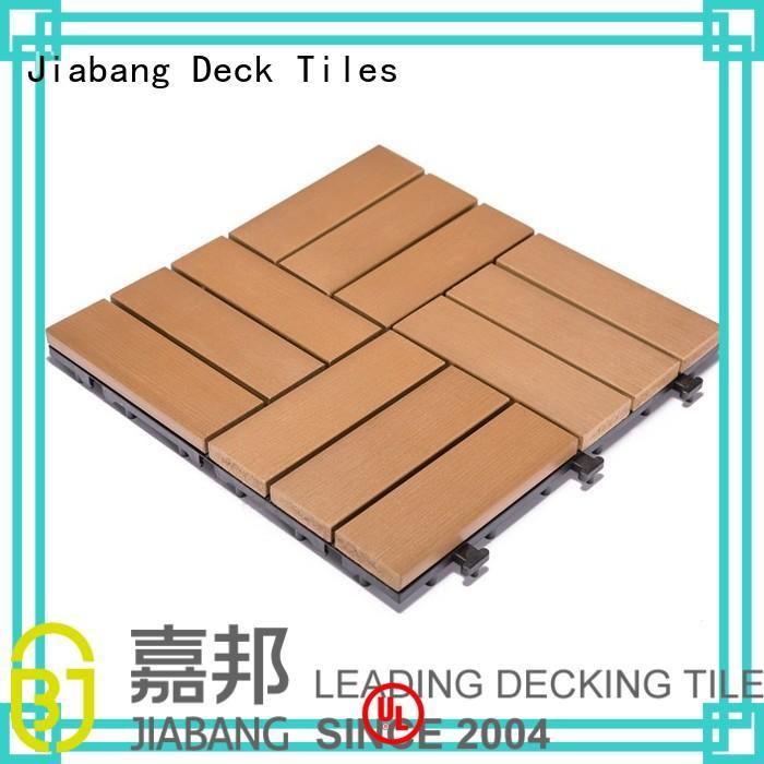 Custom woodland plastic decking tiles pvc JIABANG