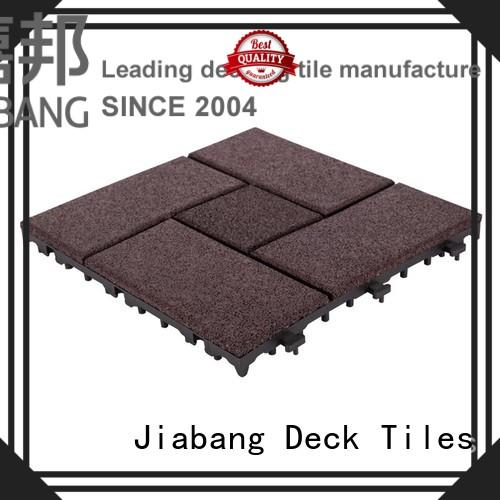 Interlocking Patio rubber floor tiles XJ-SBR-DBR003