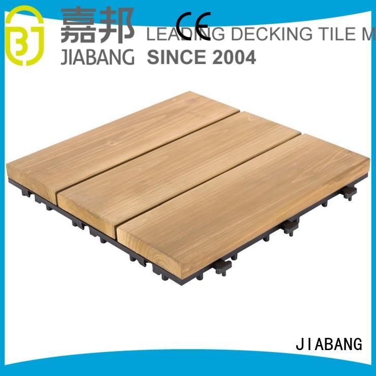 wood deck flooring balcony JIABANG Brand interlocking wood deck tiles