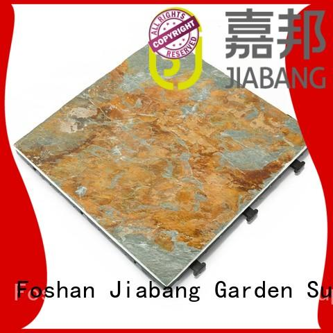 JIABANG Brand tile basement natural custom outdoor stone deck tiles