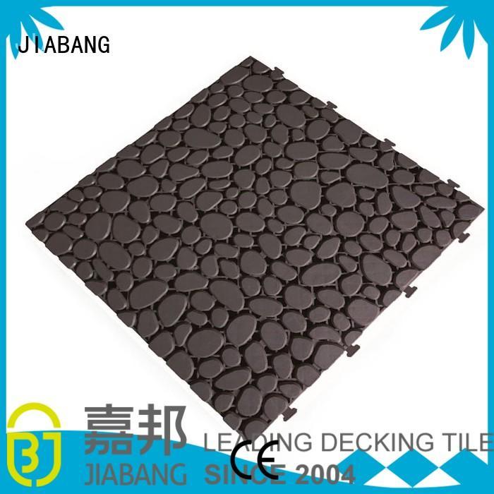 JIABANG decorative non slip bathroom tiles plastic mat for wholesale