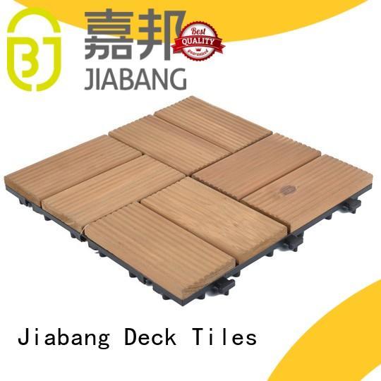 JIABANG diy wood interlocking wood deck tiles chic design for garden