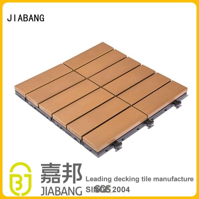 JIABANG Brand floor home deck plastic decking tiles manufacture