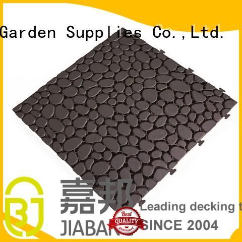 plastic floor tiles outdoor slip anti JIABANG Brand company