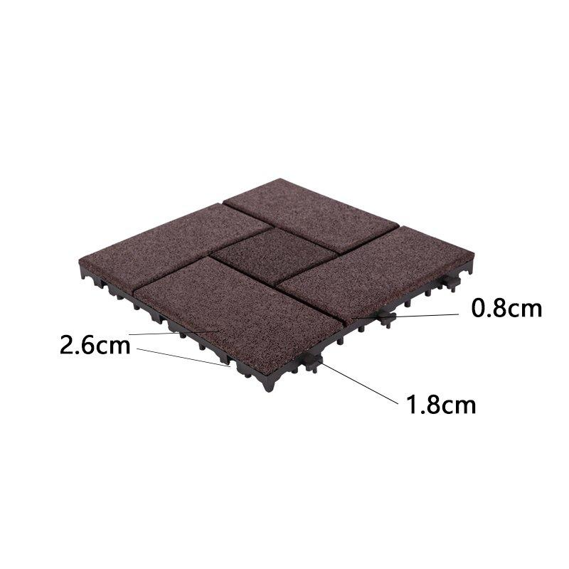 Interlocking Patio rubber floor tiles XJ-SBR-DBR003-3