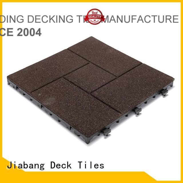 Custom porch tile interlocking rubber mats JIABANG balcony