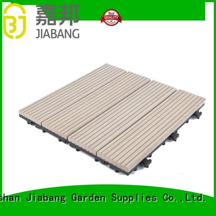 composite wood tiles pool JIABANG Brand composite deck tiles