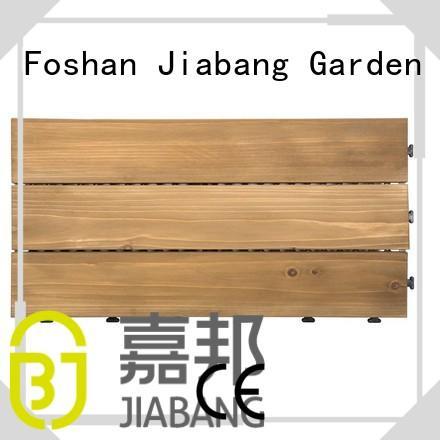 solid Custom natural interlocking wood deck tiles floors JIABANG