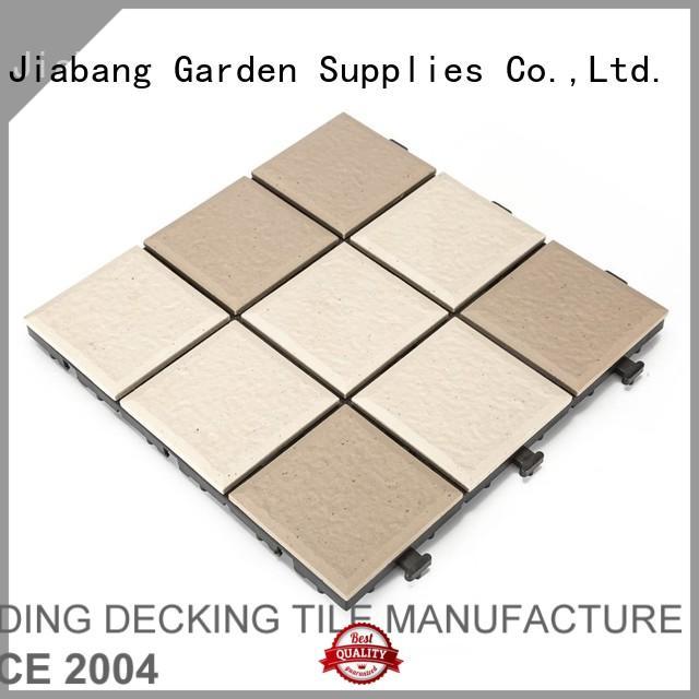 JIABANG wholesale porcelain garden tiles interlocking for patio