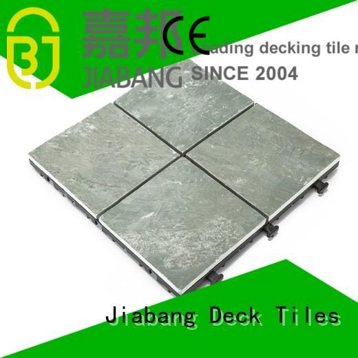 outdoor stone deck tiles slate interlocking stone deck tiles JIABANG Brand