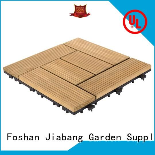 JIABANG interlocking modular wood decking flooring for garden