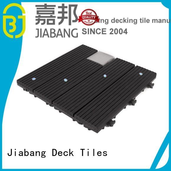 eco-friendly snap together deck tiles decorative garden lamp JIABANG