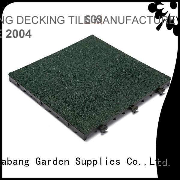 interlock rubber JIABANG Brand rubber mat tiles factory