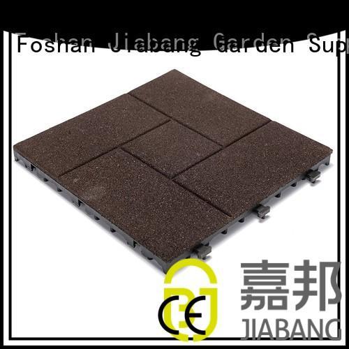 JIABANG Brand sport rubber mat tiles outside supplier