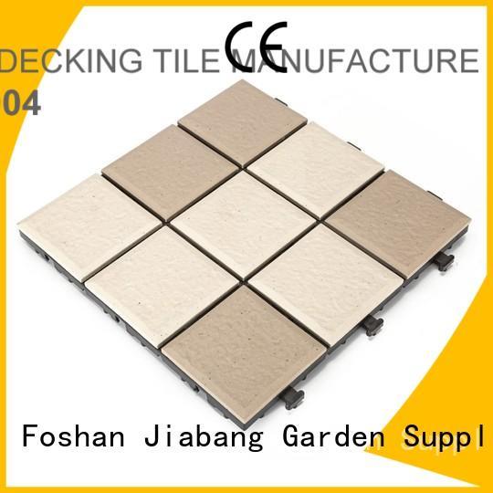 Custom stsd outdoor ceramic tile interlocking JIABANG